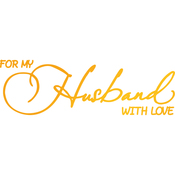 Husband With Love - Classic Sentiments Hotfoil Stamp Plates
