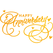Happy Anniversary - Classic Sentiments Hotfoil Stamp Plates