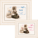 """9.5""""X6.5"""" 14 Count - My Favorite Teddy On Aida Counted Cross Stitch Kit"""
