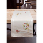 """10.5""""X32.5""""  - Butterflies Table Runner Counted Cross Stitch Kit"""