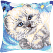 Cute Kitten - Collection D'Art Stamped Needlepoint Cushion Kit 40X40cm