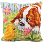Encounter - Collection D'Art Stamped Needlepoint Cushion Kit 40X40cm