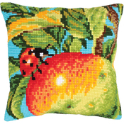 Ladybug On The Apple - Collection D'Art Stamped Needlepoint Cushion Kit 40X40cm