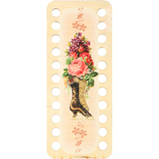 Boot With Flowers II - Buratini Thread Organizer 22X9cm