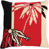 Red And Black I - Collection D'Art Stamped Needlepoint Cushion Kit 40X40cm