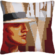 Art Deco I - Collection D'Art Stamped Needlepoint Cushion Kit 40X40cm