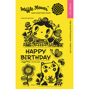 "Enveloper Birthday - Waffle Flower Crafts Clear Stamps 4""X6"""