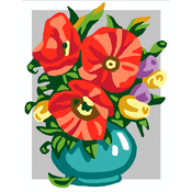 Flowers In Bowl - Collection D'Art Stamped Needlepoint Kit 20X25cm