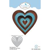 Scalloped Hearts - Elizabeth Craft Metal Die
