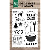"Birthday Wishes - Echo Park Stamp 4""X6"""