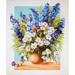 Blue Fountain - Collection D'Art Stamped Cross Stitch Kit 37X49cm