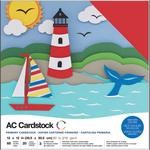 """Primaries - American Crafts Variety Cardstock Pack 12""""X12"""" 60/Pkg"""