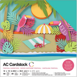 Tropical - American Crafts Variety Cardstock Pack