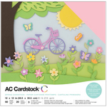 "Spring - American Crafts Variety Cardstock Pack 12""X12"" 60/Pkg"