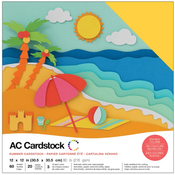 "Summer - American Crafts Variety Cardstock Pack 12""X12"" 60/Pkg"