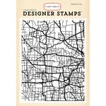 Road Map - Carta Bella Background Stamp A2