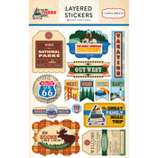 Are We There Yet? Layered Stickers - Carta Bella