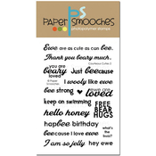 """Courteous Cuties 2 - Paper Smooches Clear Stamps 4""""X6"""""""