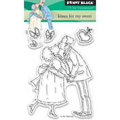 """Kisses For My Sweet - Penny Black Clear Stamps 3""""X4"""""""