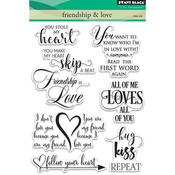"""Friendship & Love - Penny Black Clear Stamps 5""""X7"""""""