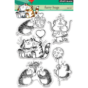 """Furry Hugs - Penny Black Clear Stamps 5""""X7"""""""