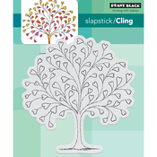 """Tree-Heart - Penny Black Cling Stamp 4.5""""X4.5"""""""