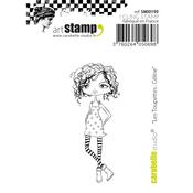 "Les Toupettes: Celine - Carabelle Studio Cling Stamp Small 2""X2.75"""