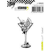 """Cocktail - Carabelle Studio Cling Stamp Small 2""""X2.75"""""""