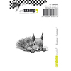 """Squirrel - Surprise! - Carabelle Studio Cling Stamp Small 2""""X2.75"""""""
