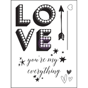 "Love Clippings Clear Stamps 3""X4"""