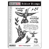"""Hummingbirds - Darkroom Door Cling Stamps 7""""X5"""""""