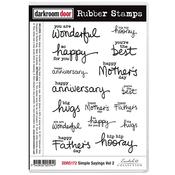 "Simple Sayings Vol 2 - Darkroom Door Cling Stamps 7""X5"""