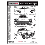 """Classic Cars - Darkroom Door Cling Stamps 7""""X5"""""""