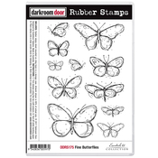 """Fine Butterflies - Darkroom Door Cling Stamps 7""""X5"""""""