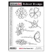 """Fine Flowers Vol 2 - Darkroom Door Cling Stamps 7""""X5"""""""