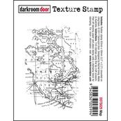 """Map - Darkroom Door Cling Stamp 3""""X2"""""""