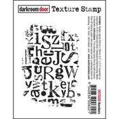 """Alphabet - Darkroom Door Cling Stamp 3""""X2"""""""