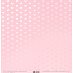 """Heart W/Pink Pearl, Cotton Candy - Bazzill Foiled Pattern Cardstock 12""""X12"""""""