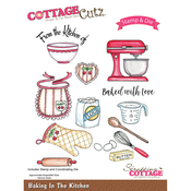 Baking In The Kitchen - CottageCutz Stamp & Die Set