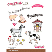 Farm Animals - CottageCutz Stamp & Die Set