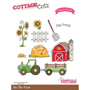 On The Farm - CottageCutz Stamp & Die Set