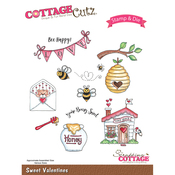 Sweet Valentines - CottageCutz Stamp & Die Set