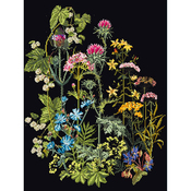 """13.75""""X18"""" 18 Count - Herb Panel On Aida Counted Cross Stitch Kit"""