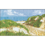 "7.75""X12.75"" 16 Count - The Seashore On Aida Counted Cross Stitch Kit"