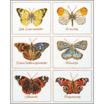 "14.5""X18"" 16 Count - Butterflies On Aida Counted Cross Stitch Kit"