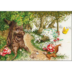 """19.75""""X15.75"""" 12 Count - Efteling Sprookjesboom On Aida Counted Cross Stitch Kit"""