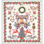 """23.5""""X25.75"""" 16 Count - Christmas Design On Aida Counted Cross Stitch Kit"""