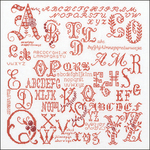 "13.25""X13.25"" 18 Count - Antique Character Sampler On Aida Counted Cross Stitch Kit"