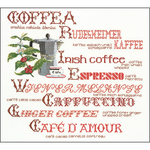 """15.25""""X14.5"""" 18 Count - Coffee Sampler On Aida Counted Cross Stitch Kit"""