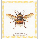"7.75""X8.25"" 16 Count - Bumble Bee On Aida Counted Cross Stitch Kit"